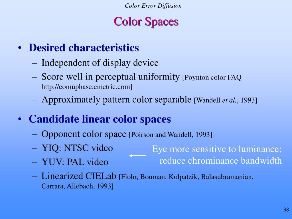 Color Error Diffusion