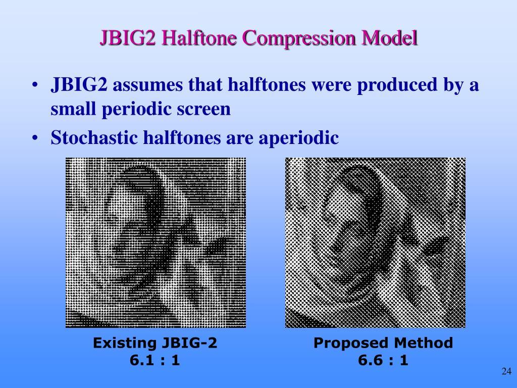 JBIG2 Halftone Compression Model