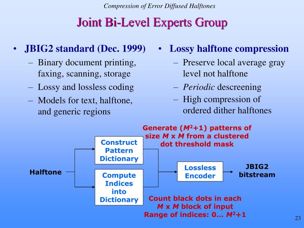 JBIG2 standard (Dec. 1999)
