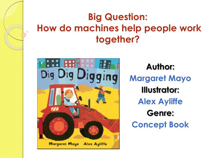 Big question how do machines help people work together