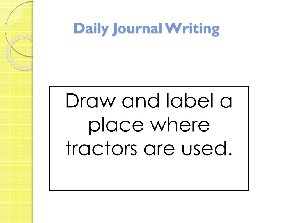 Daily Journal Writing