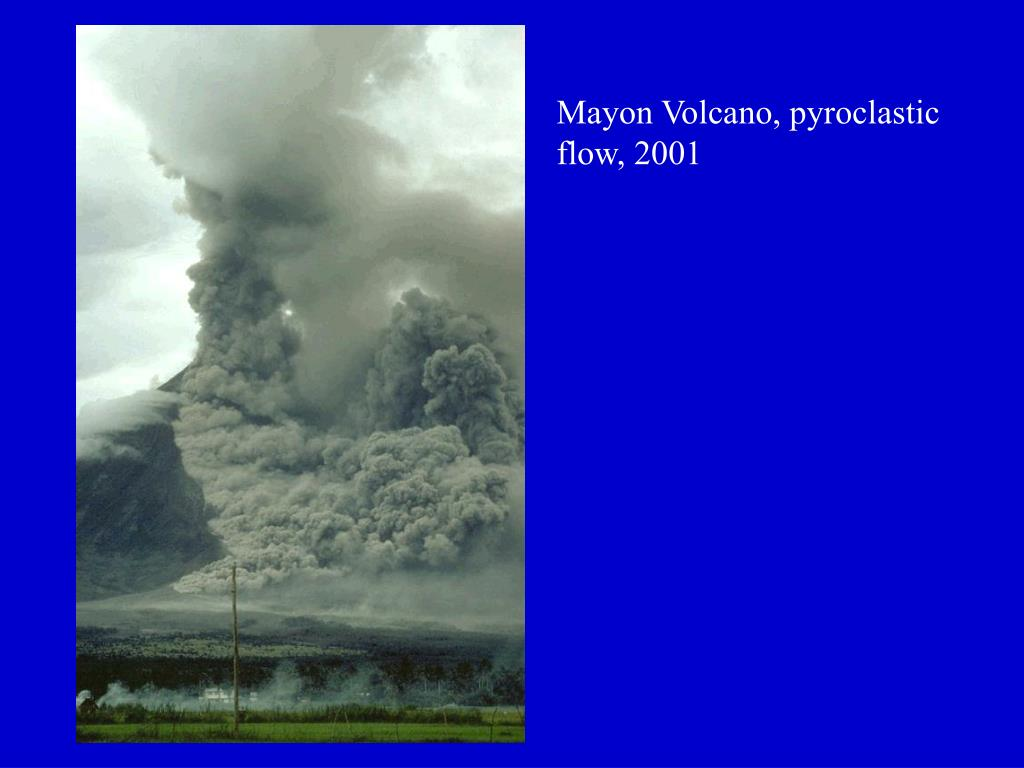 Mayon Volcano, pyroclastic flow, 2001