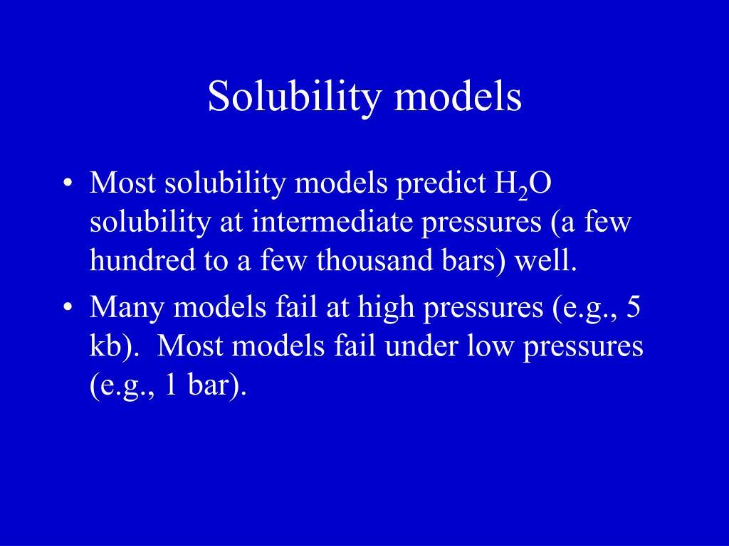 Solubility models