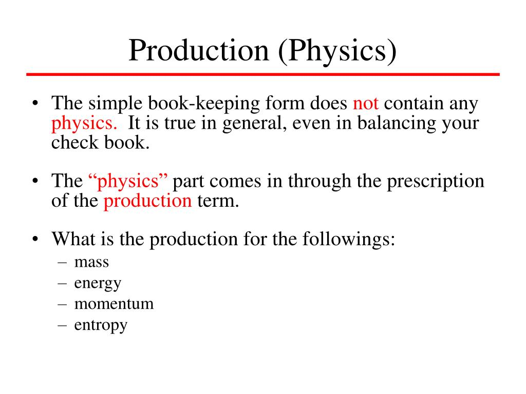 Production (Physics)