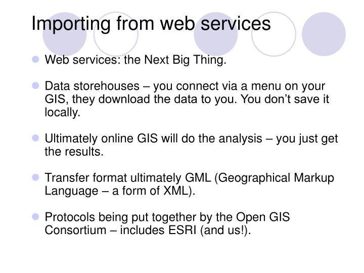 Importing from web services