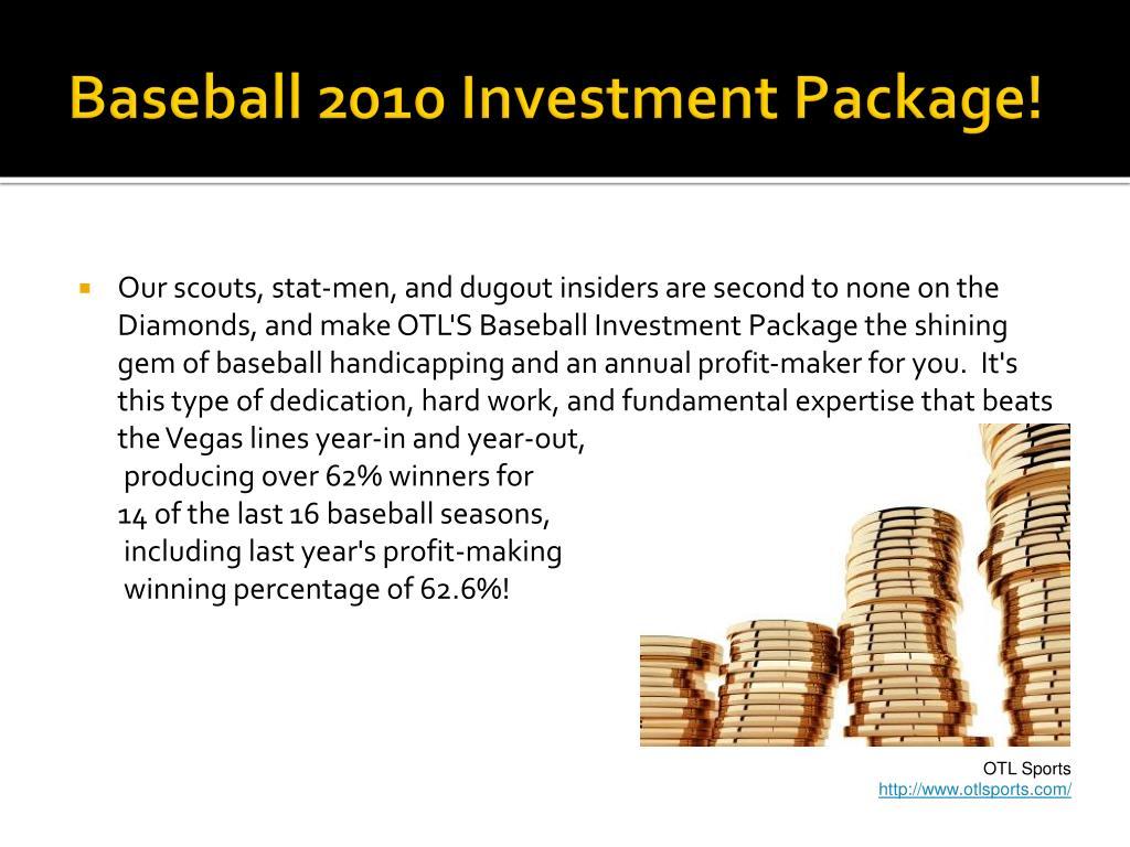 Baseball 2010 Investment Package!
