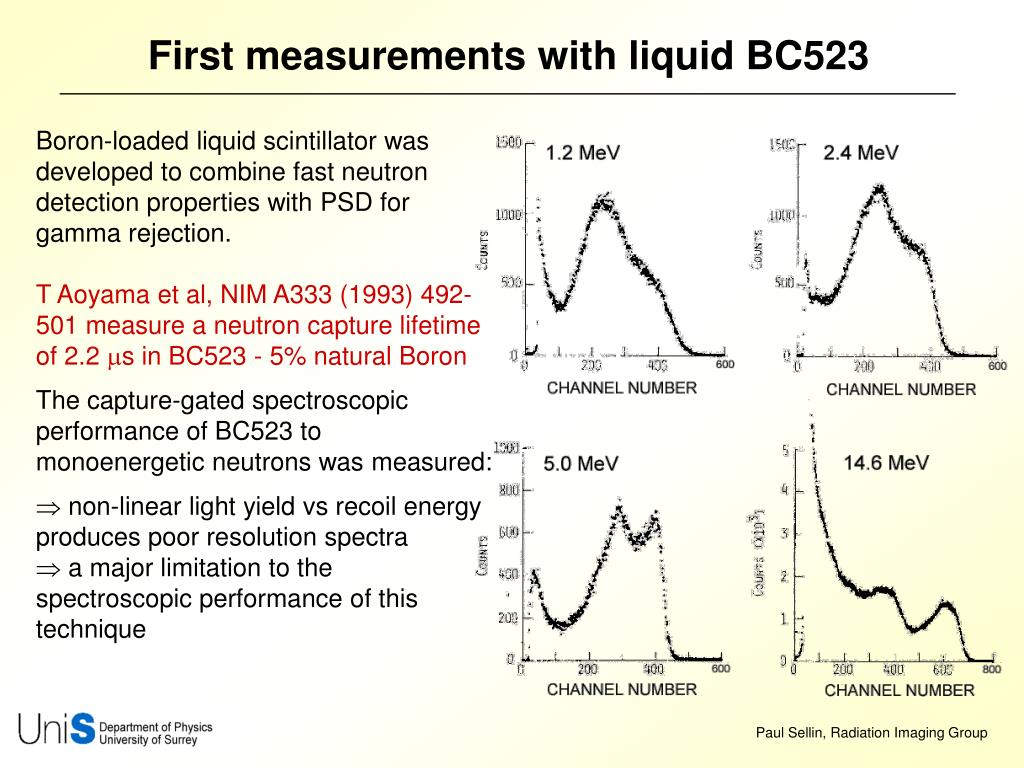 First measurements with liquid BC523