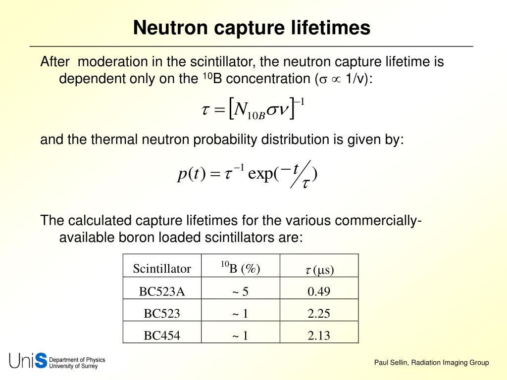 Neutron capture lifetimes