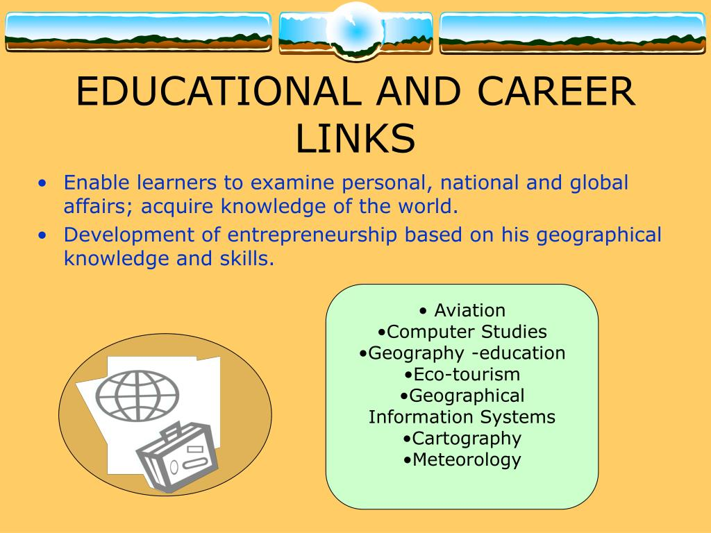 EDUCATIONAL AND CAREER LINKS