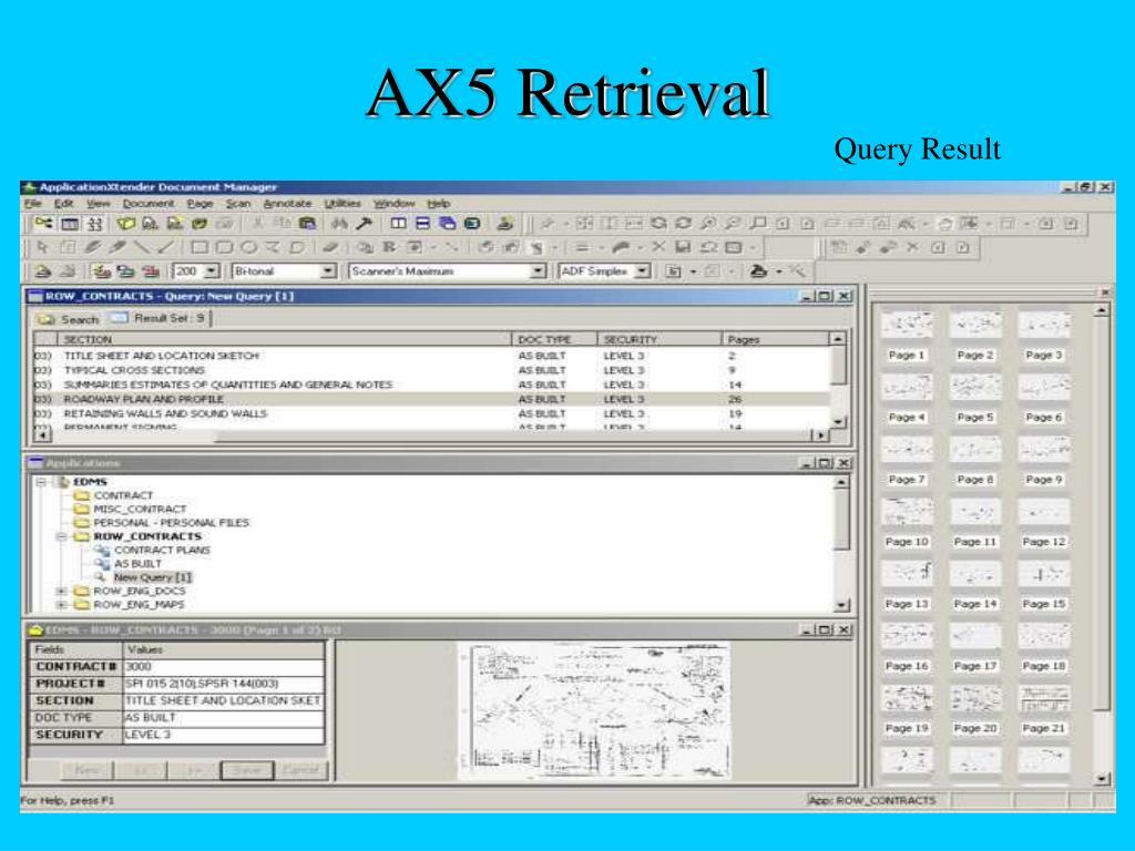 AX5 Retrieval