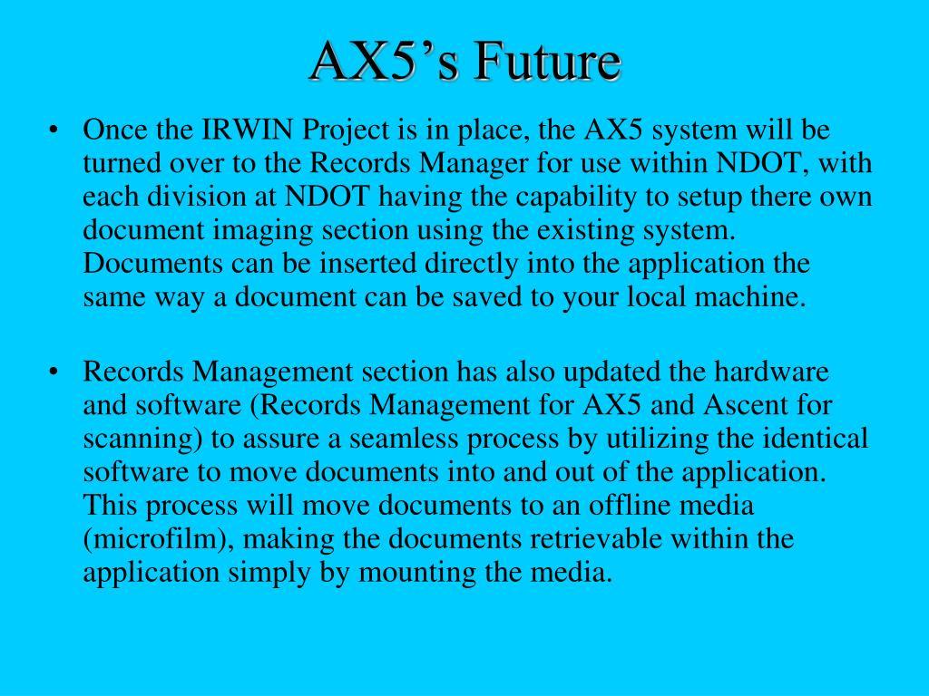 AX5's Future