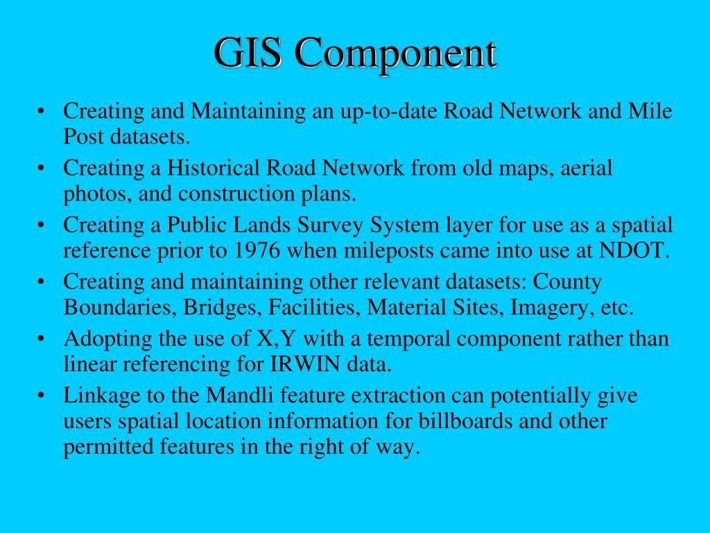 GIS Component
