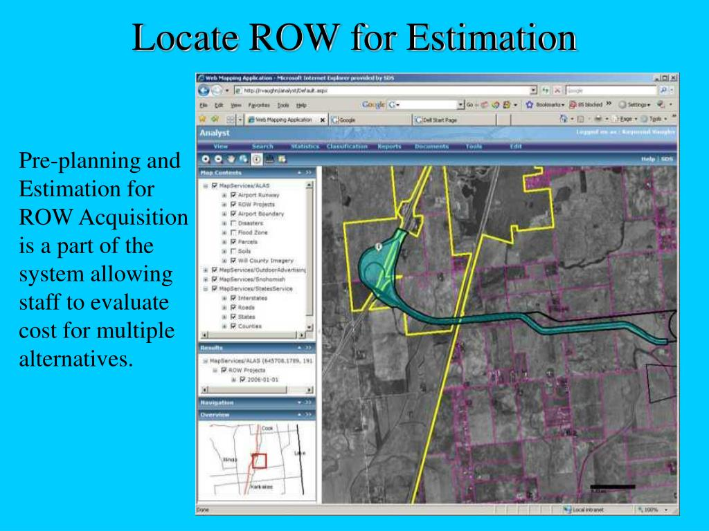 Locate ROW for Estimation