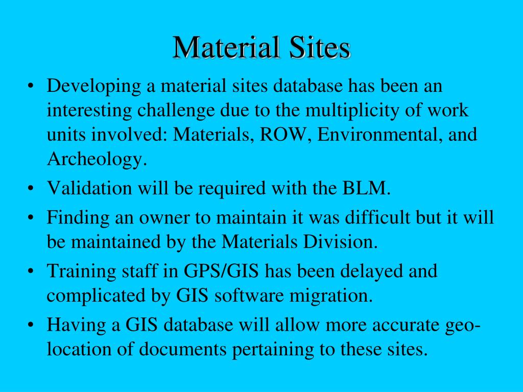 Material Sites