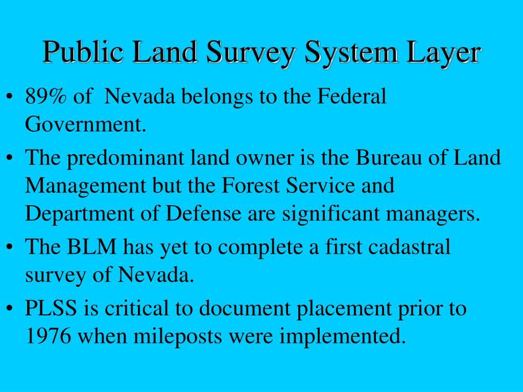 Public Land Survey System Layer