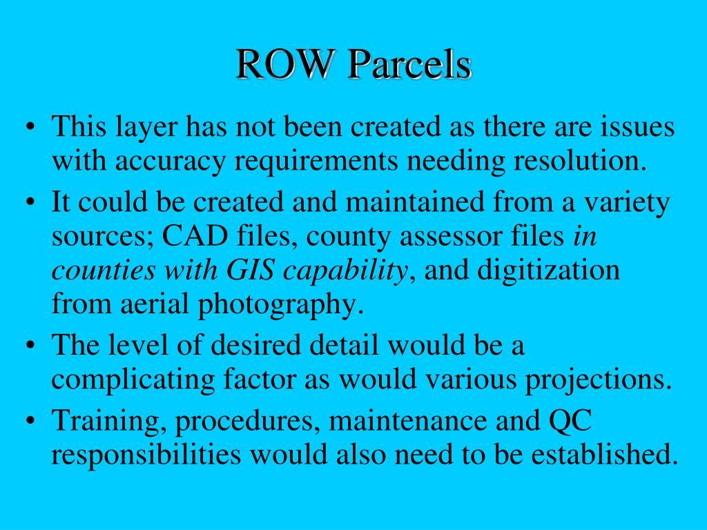 ROW Parcels