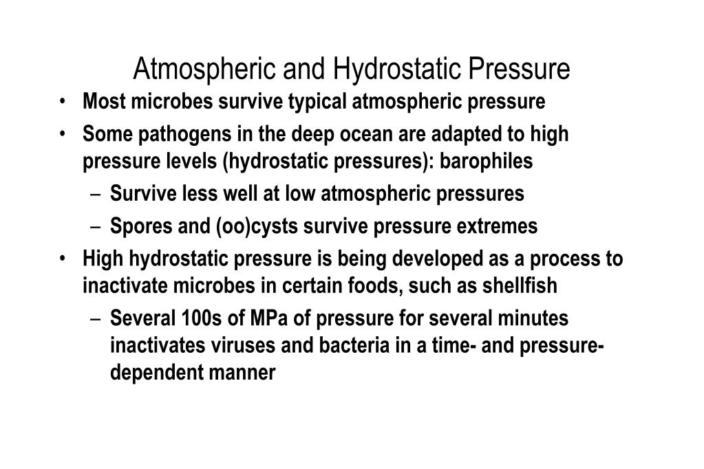 Atmospheric and Hydrostatic Pressure