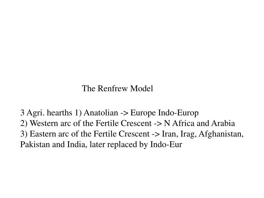 The Renfrew Model