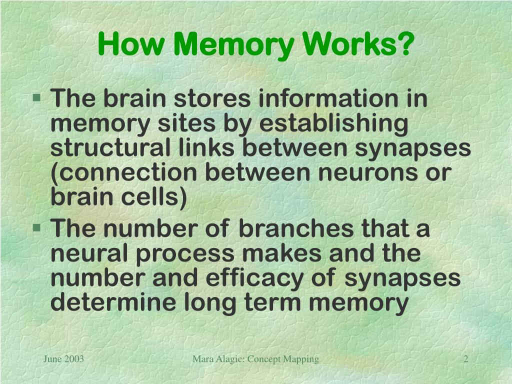 How Memory Works?