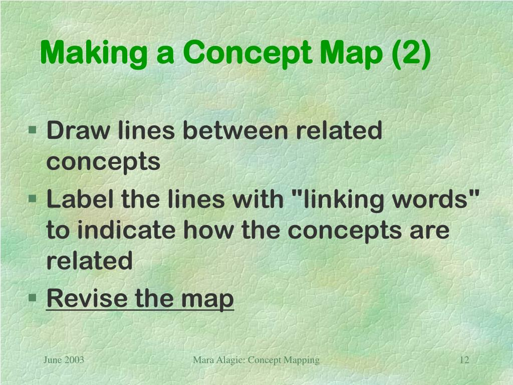 Making a Concept Map (2)