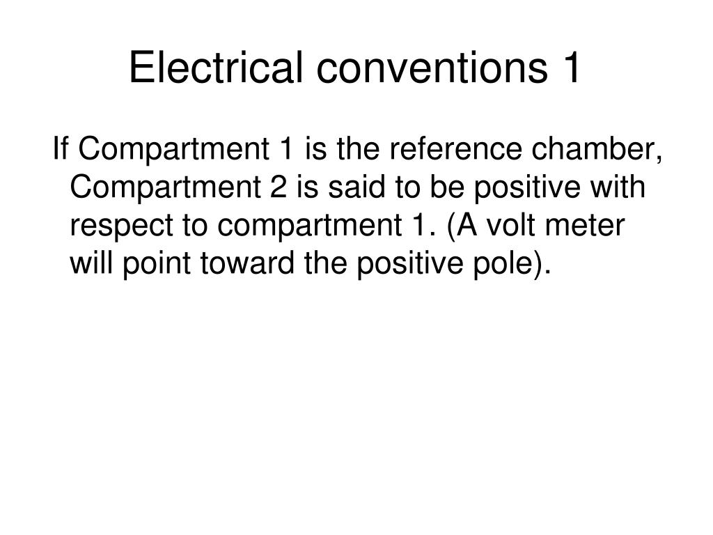 Electrical conventions 1