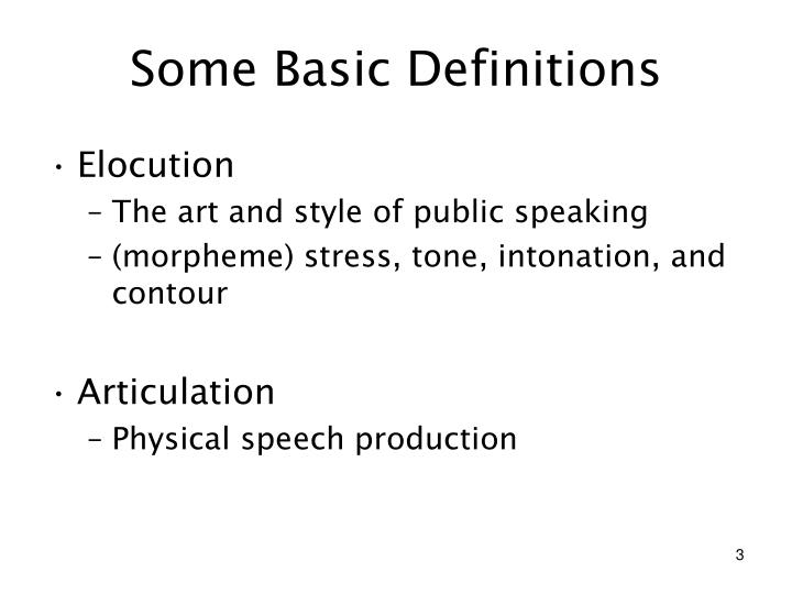 Some basic definitions