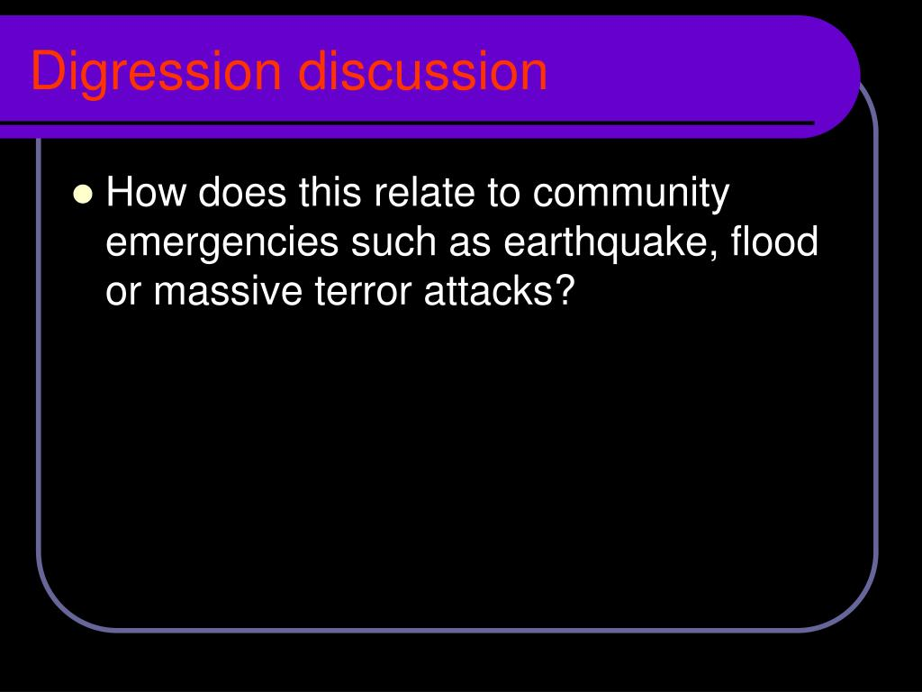 Digression discussion