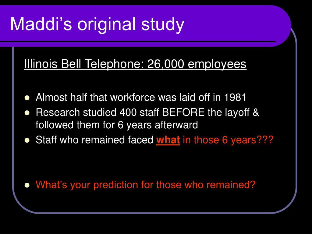 Maddi's original study