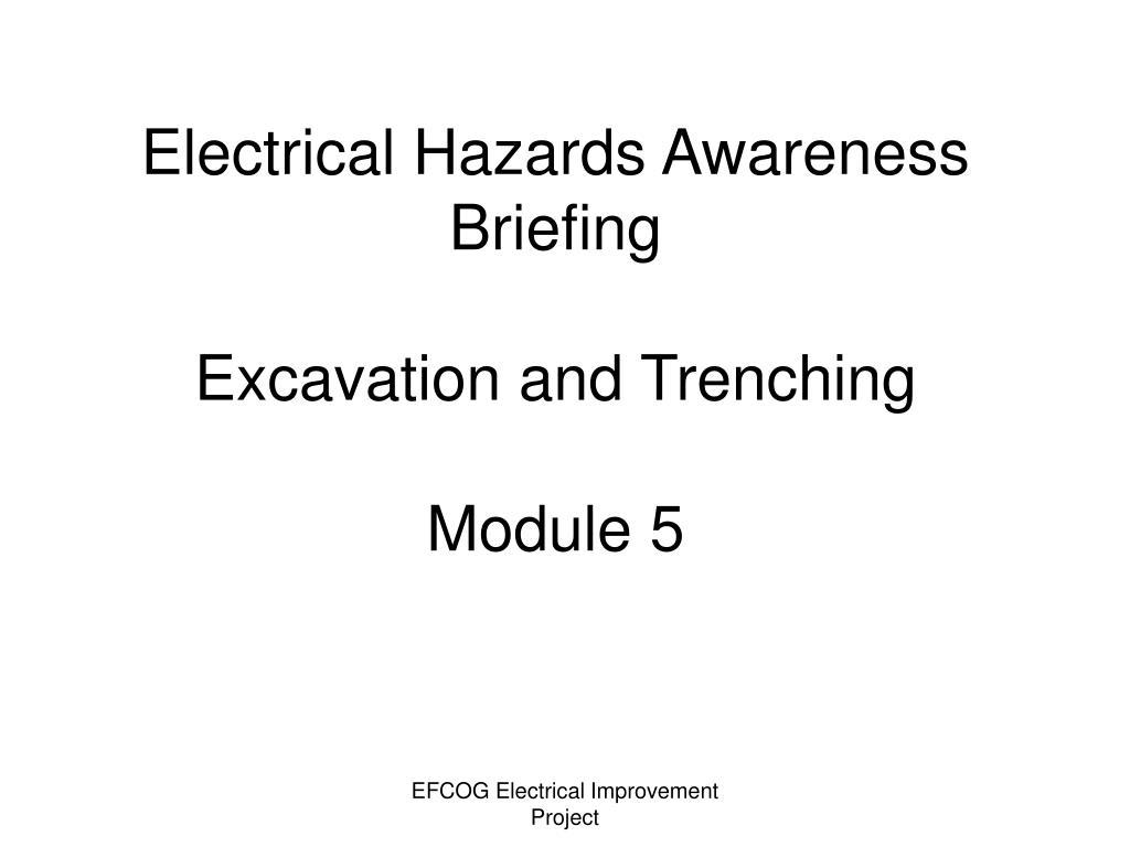 Electrical Hazards Awareness Briefing