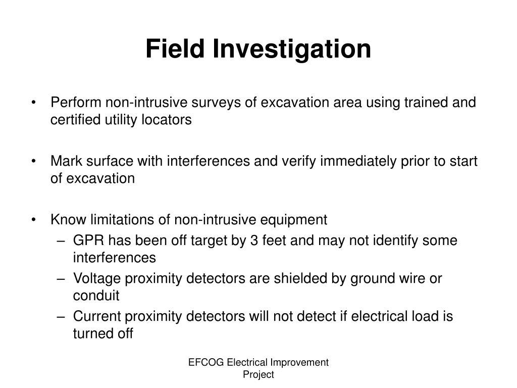 Field Investigation
