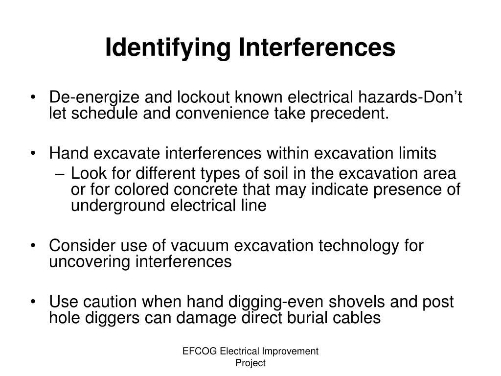 Identifying Interferences