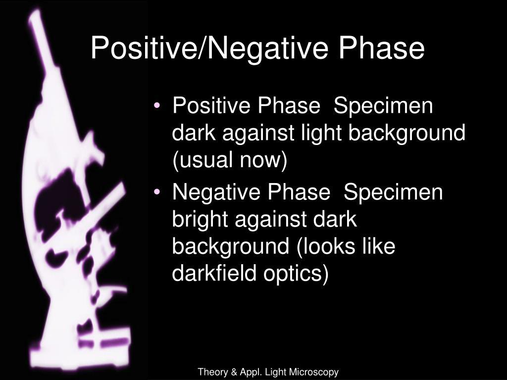 Positive/Negative Phase