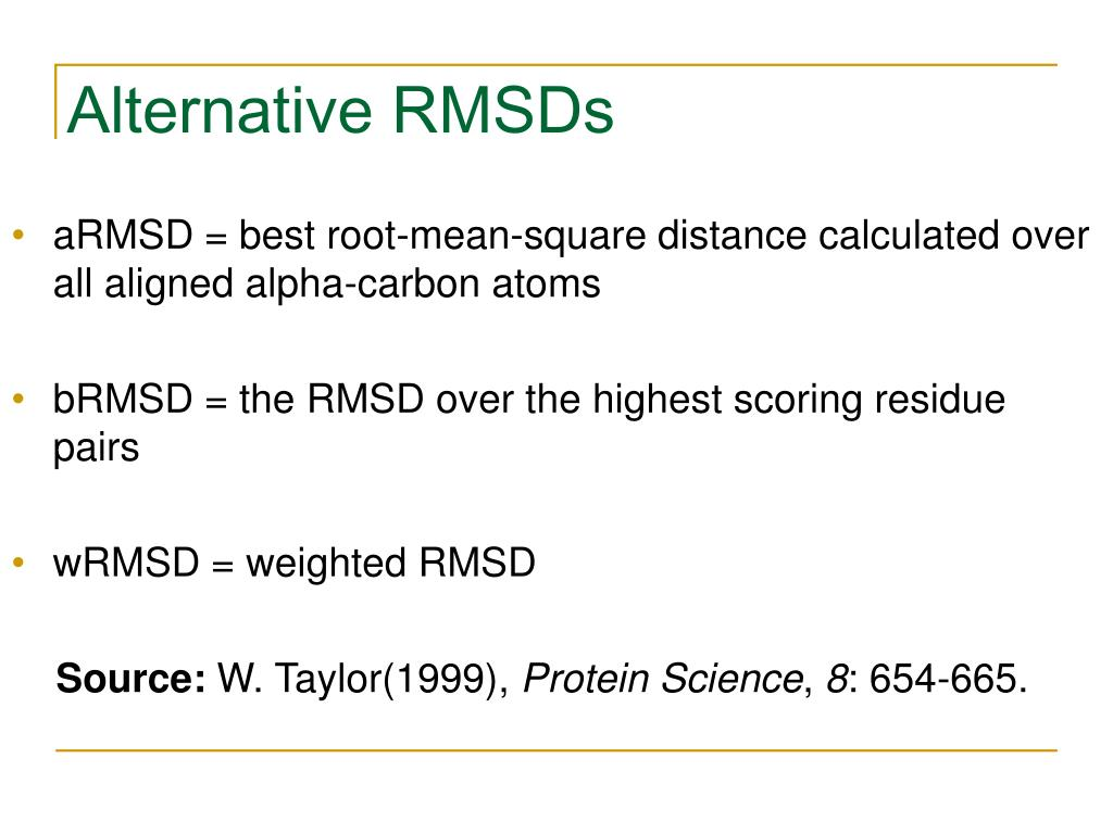 Alternative RMSDs