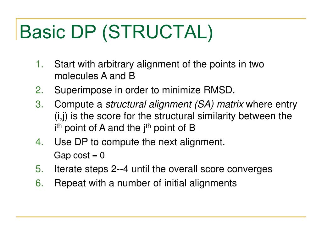 Basic DP (STRUCTAL)