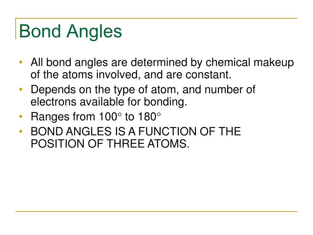 Bond Angles