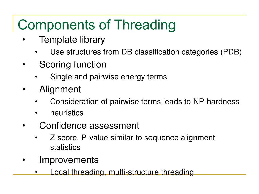 Components of Threading