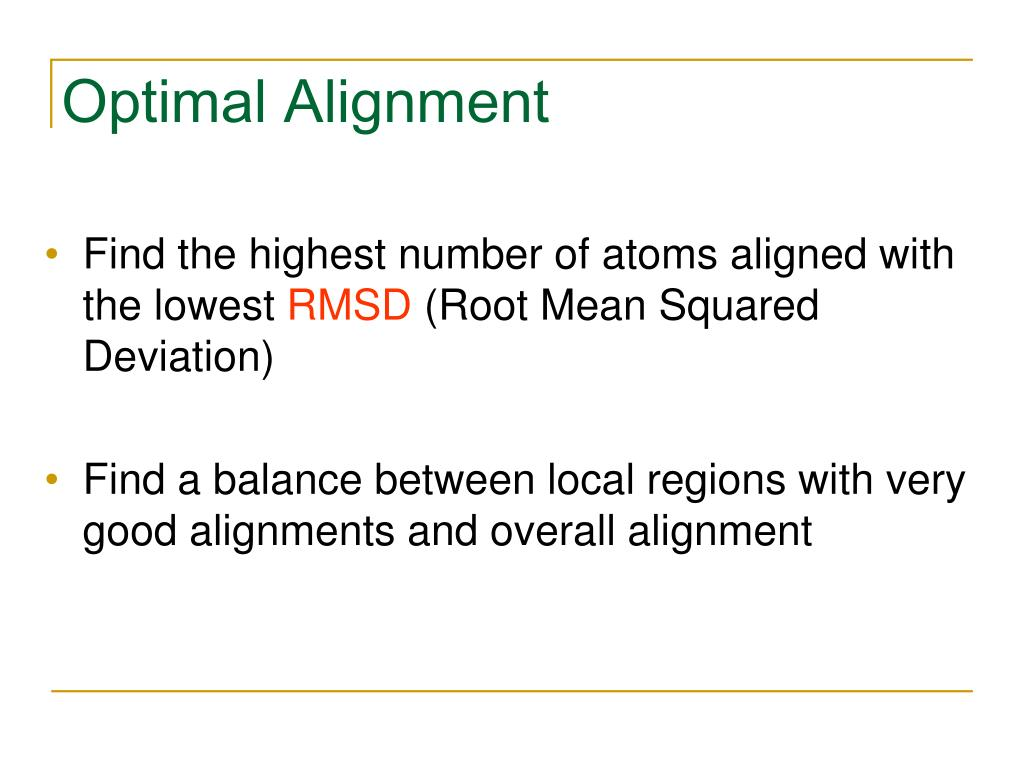 Optimal Alignment