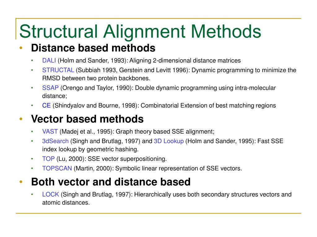 Structural Alignment Methods