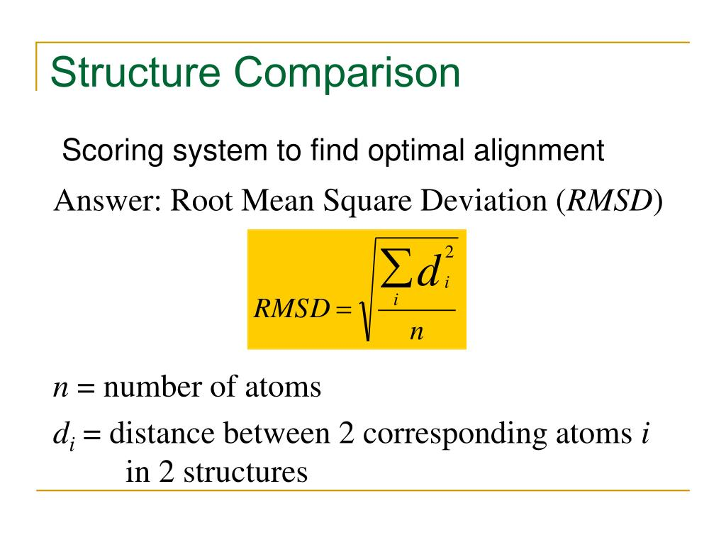 Answer: Root Mean Square Deviation (