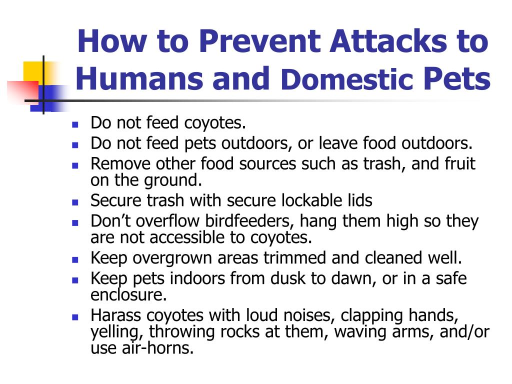 How to Prevent Attacks to Humans and