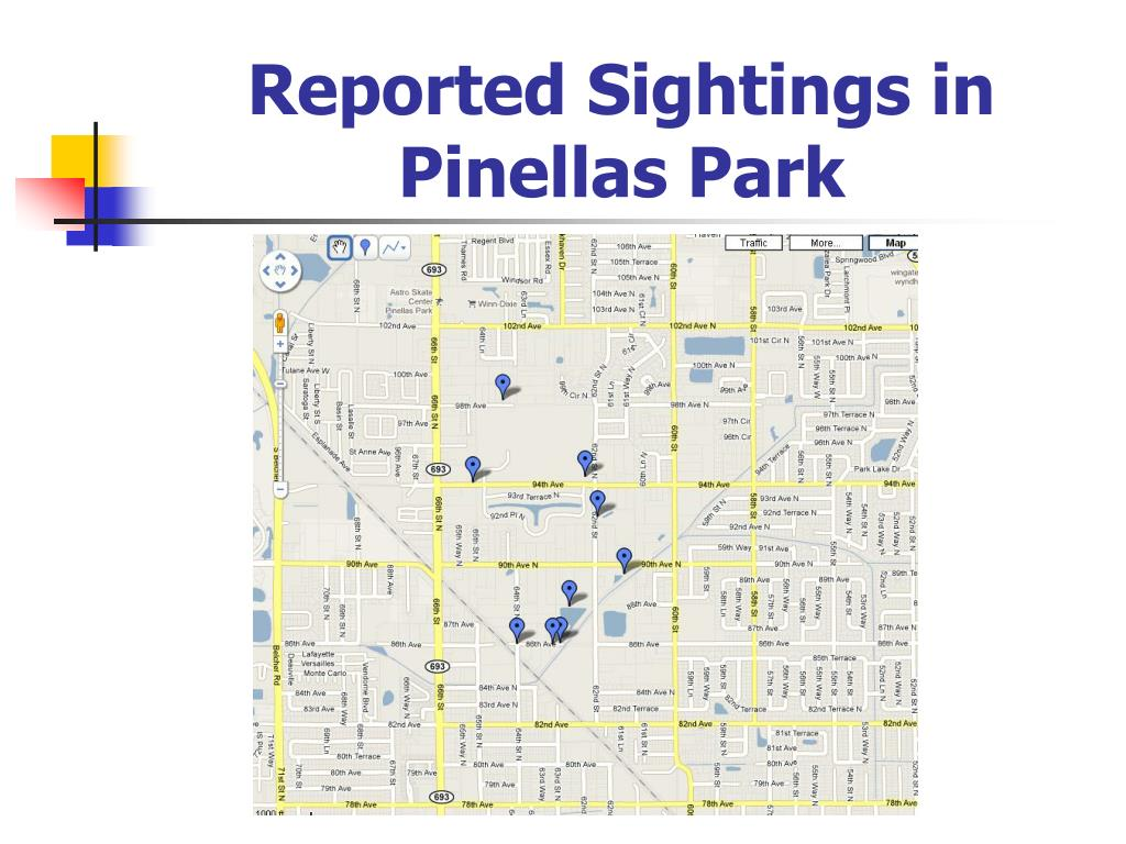 Reported Sightings in