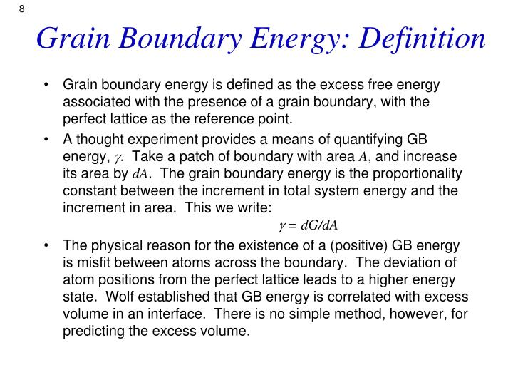 grain boundaries definition relationship