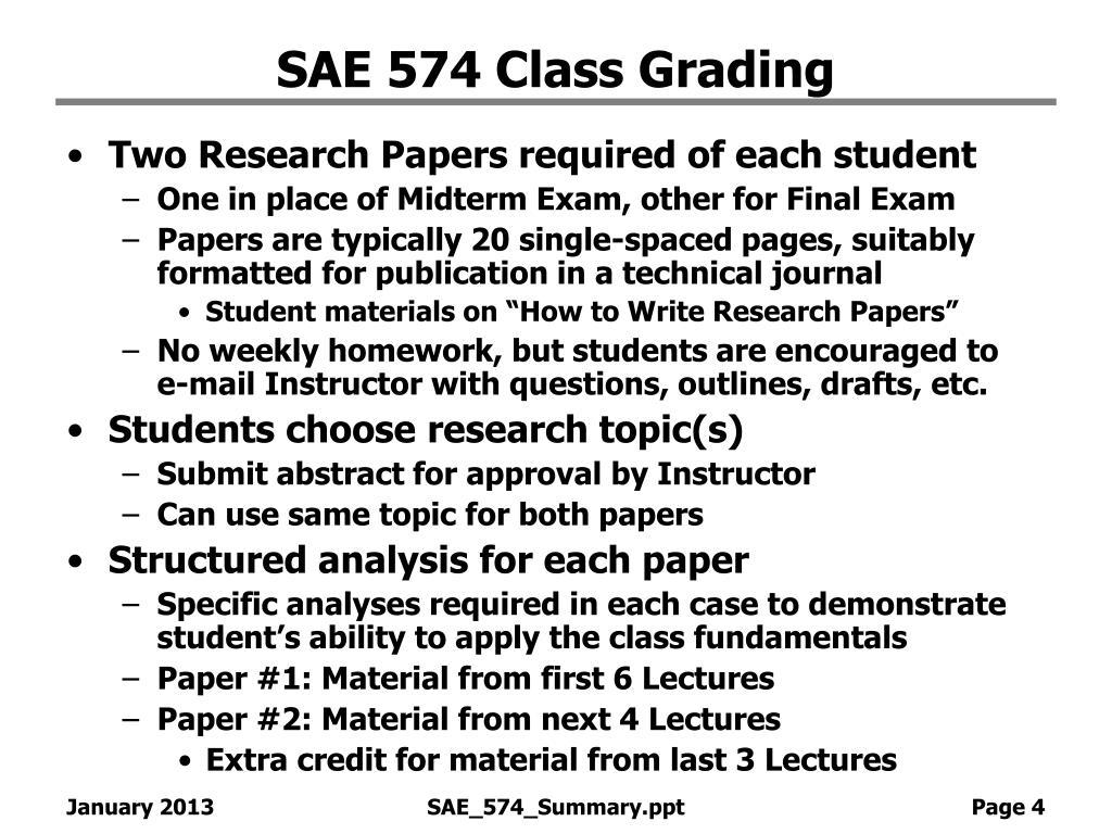 SAE 574 Class Grading