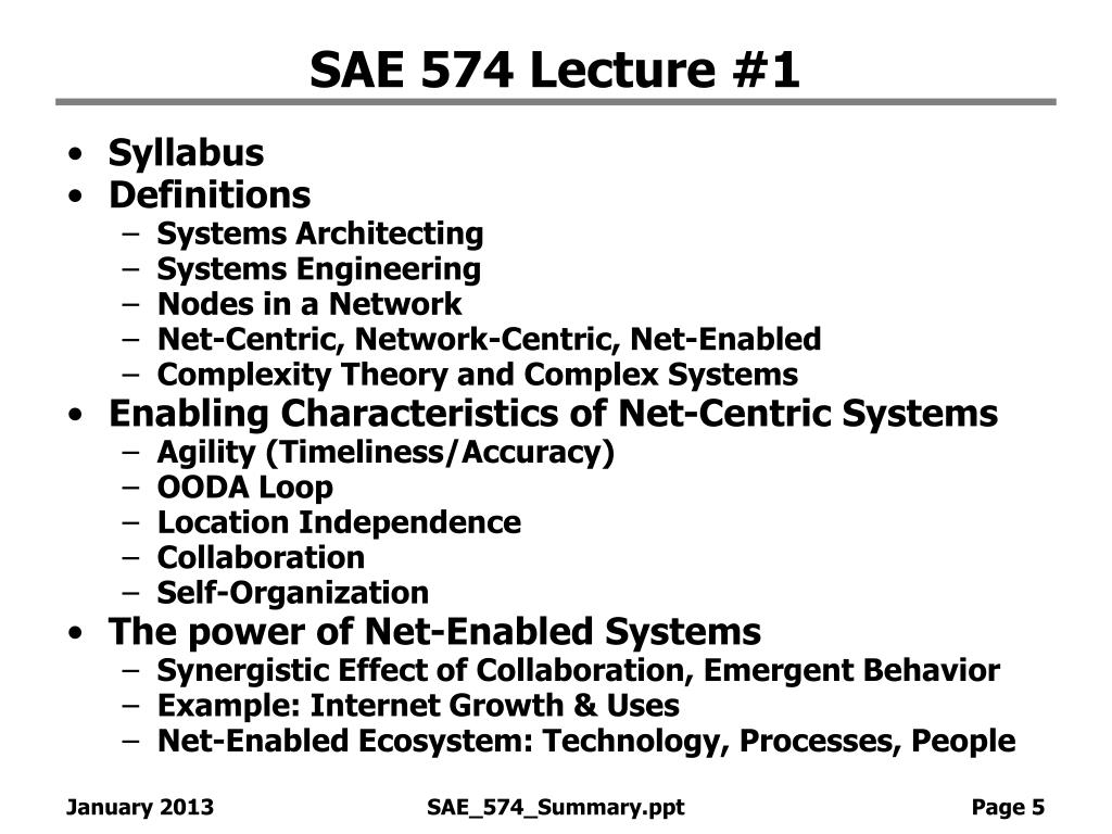 SAE 574 Lecture #1