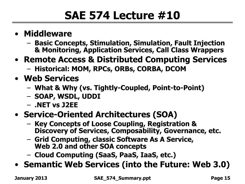 SAE 574 Lecture #10