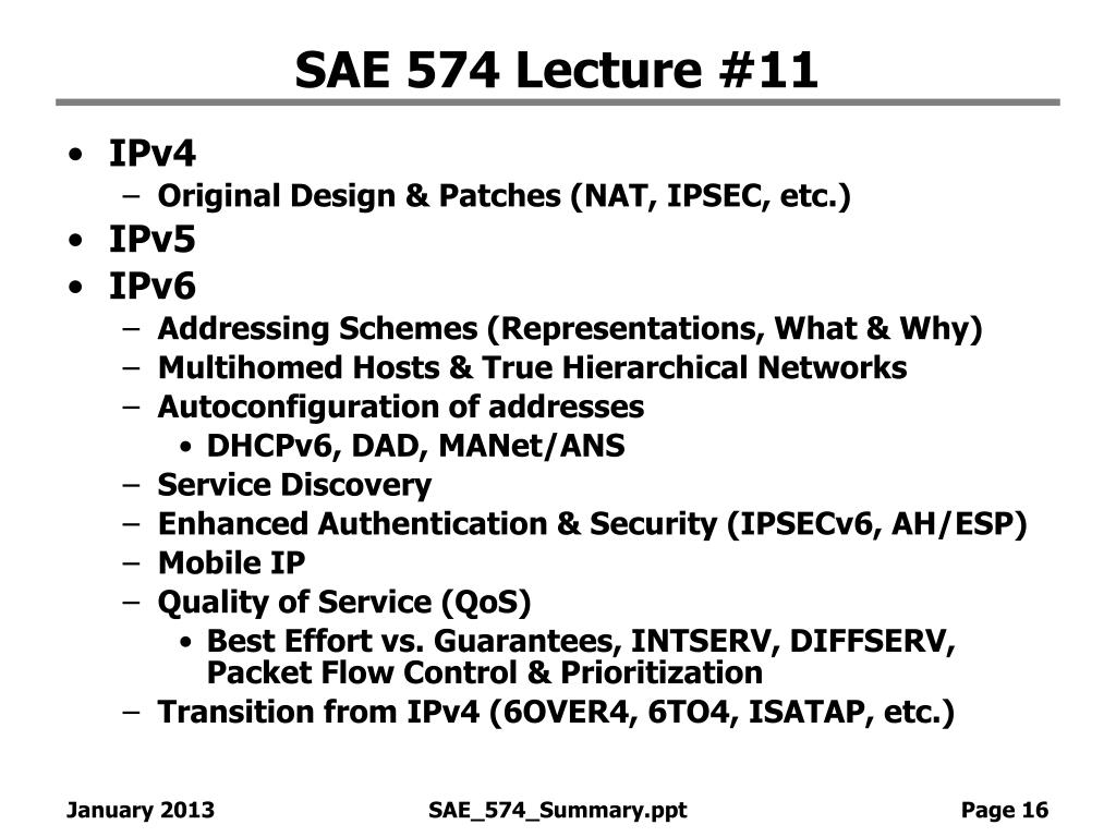 SAE 574 Lecture #11