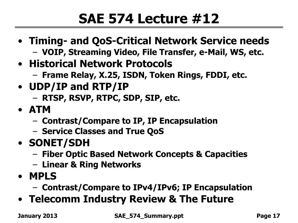 SAE 574 Lecture #12