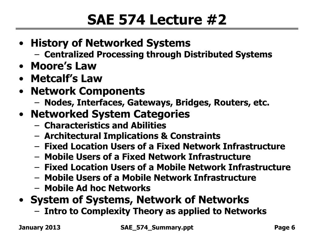 SAE 574 Lecture #2