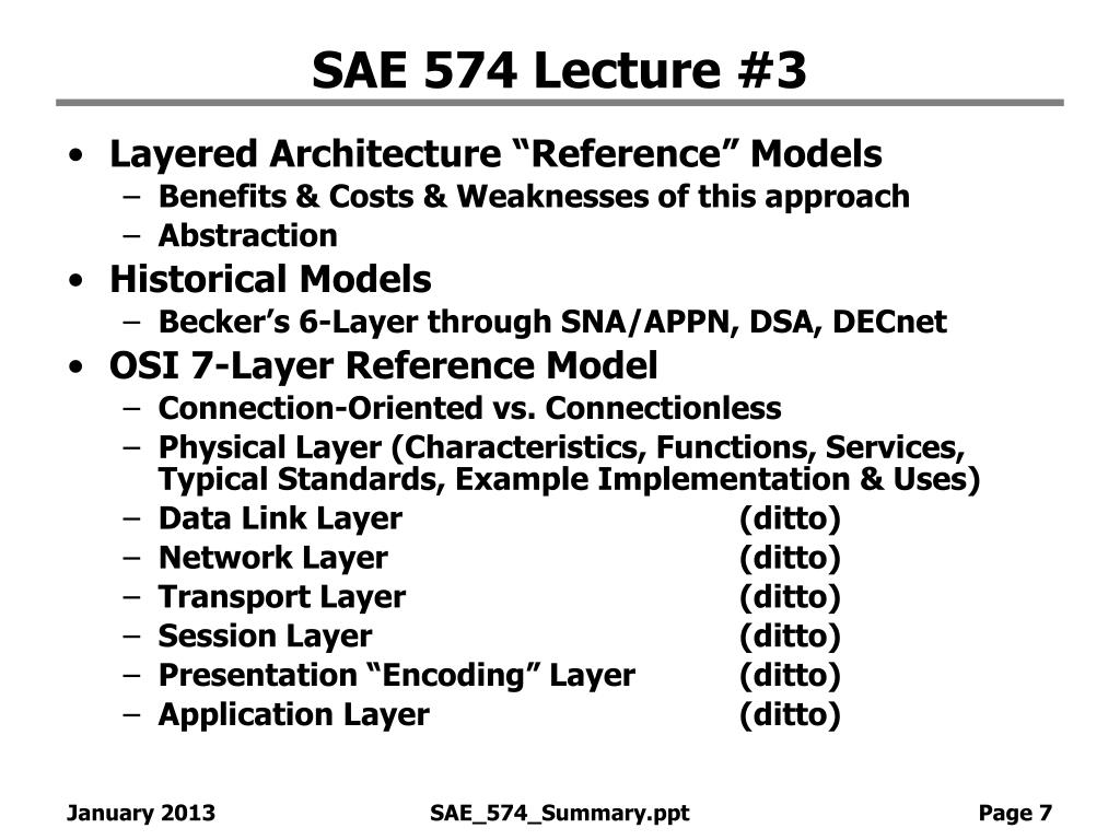 SAE 574 Lecture #3