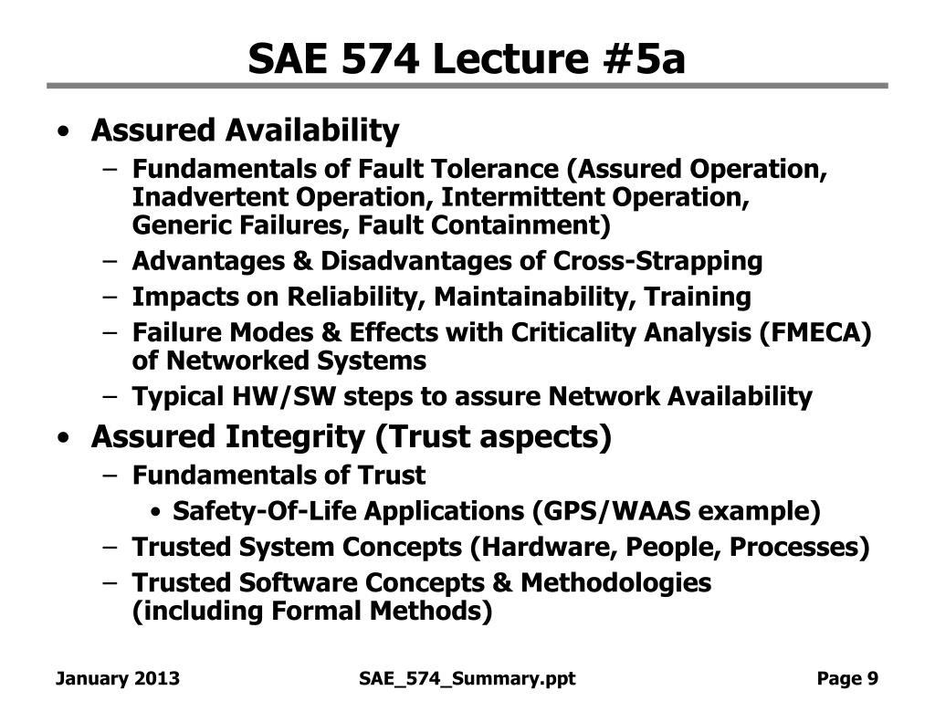 SAE 574 Lecture #5a